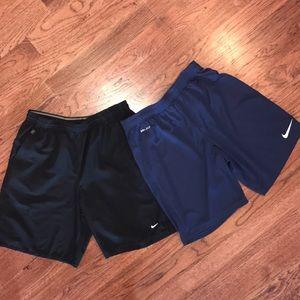 Men's Nike DRI-FIT athletic shorts (ONE PAIR)
